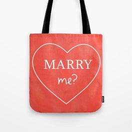 Valentines Day Marry Me Tote Bag