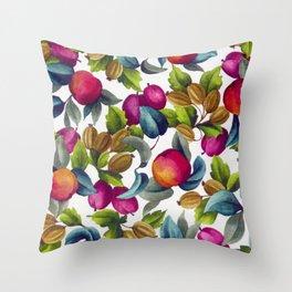 Watercolor Fruit Throw Pillow