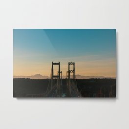 Tacoma Narrows Sunset - Landscape Metal Print
