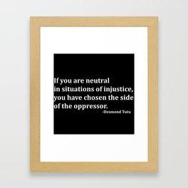 Desmond Tutu Framed Art Print
