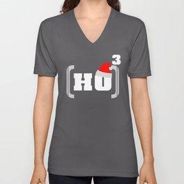 Ho3 HoHoHo Christmas Math Santa Claus Reindeer Design Unisex V-Neck