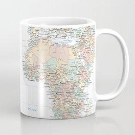 Clear World Map Coffee Mug