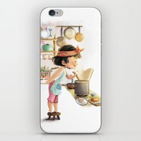cooking iPhone & iPod Skins featuring Cooking by Bumpy