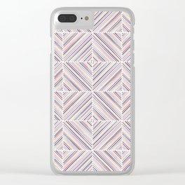 Herringbone Diamonds - Mauve Clear iPhone Case