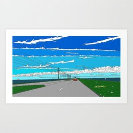 Road to Cape Canaveral Art Print