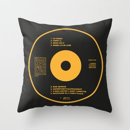 Black Album 1987 CD Throw Pillow
