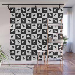 ibises (checkerboard) Wall Mural