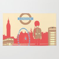 london Area & Throw Rugs featuring LONDON by famenxt