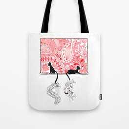Cats in a Window Tote Bag