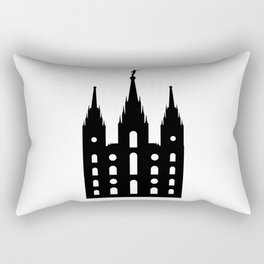 Mormon Style Temple Rectangular Pillow