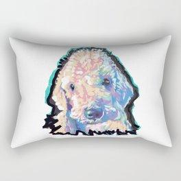Bedlington Terrier Fun Pop Art Rectangular Pillow