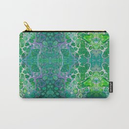 Green marble painting Carry-All Pouch