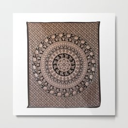 Elephant Hippy Wall Hanging Tapestry Metal Print