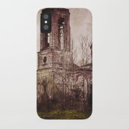 Church in ruins iPhone Case