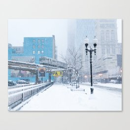 Chicago Blizzard - 2015 Canvas Print