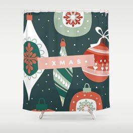 Xmas Ornaments Shower Curtain