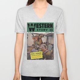 Street & Smith's Western Story - February 1941 Unisex V-Neck