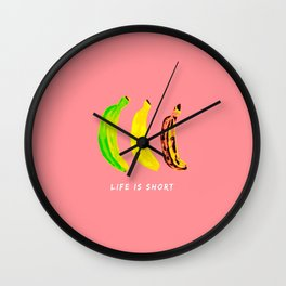 No Bananas Were Harmed in the Making of this Design Wall Clock