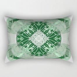 Microchip Mandala in Green Rectangular Pillow