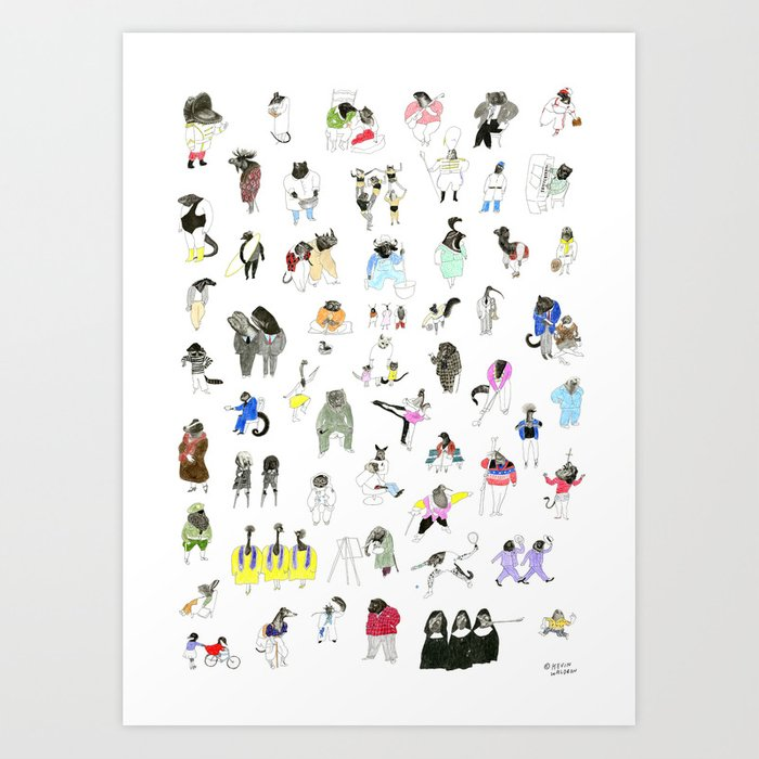 Dozens of Animal Denizens Art Print