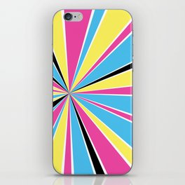 CMYK Star Burst iPhone Skin