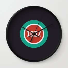 "Illustration ""percentage - 100%"" with long shadow in new modern flat design Wall Clock"