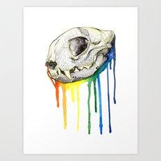 Skull Candy Kitty Art Print