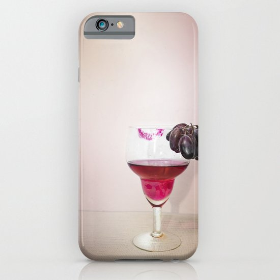 Wine, Lipstick and Grapes iPhone & iPod Case