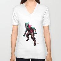 cthulhu V-neck T-shirts featuring CTHULHU by Yoncho Yonchev
