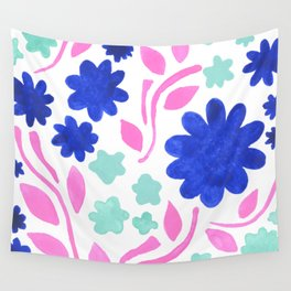 Cool Folk Floral Wall Tapestry
