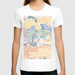 Pines on the Coastline by Henri-Edmond Cross, French T-shirt