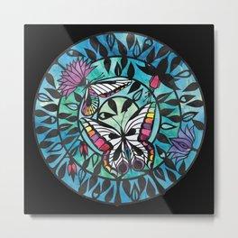 Butterflies - Paper cut design  Metal Print
