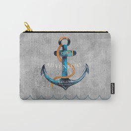 Maritime Design- Nautic Anchor Navy Marine Beach Carry-All Pouch