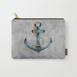 Maritime Design- Nautic Anchor Navy Marine Beach Carry-All Pouch