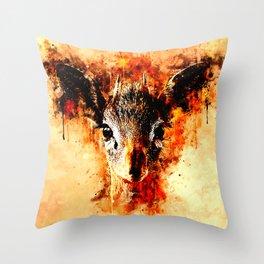 small dik-dik antelope portrait wsb Throw Pillow