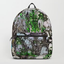 Jellyfish parade, acrylic on canvas Backpack