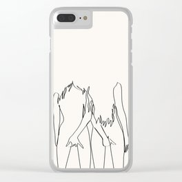 Best Friends For Ever Clear iPhone Case