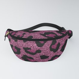 Pink Glitter Leopard Print Fanny Pack