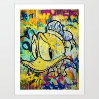 duck Art Prints featuring duck by casper smith