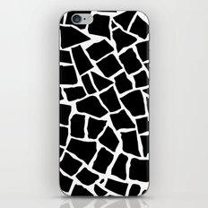 Mosaic Zoom Black and White iPhone Skin