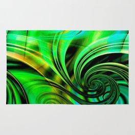 Curls Deluxe Green Rug