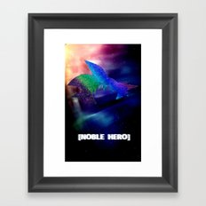 Goku In Space Framed Art Print