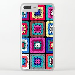 Granny Square Clear iPhone Case