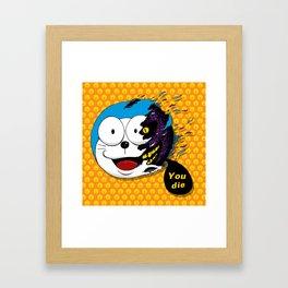 Doraemon dead Framed Art Print