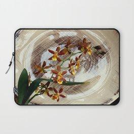 A Brushstroke Of Orchid Genus Laptop Sleeve