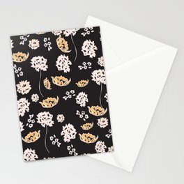 Black Floral Stationery Cards