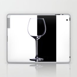Black and White Glass Laptop & iPad Skin