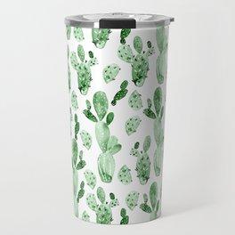 Green Cactus Field Travel Mug