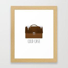 Cold Case Framed Art Print