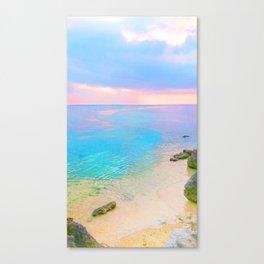 Dreamy sunset beach Canvas Print